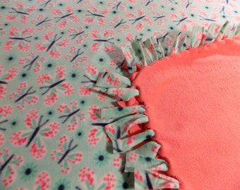 Butterfly Hand Tied Fleece Blanket