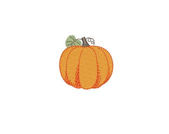 Mini Pumpkin machine embroidery design. Small Thanksgiving embroidery files. 4 sizes (4 x 4 hoop) Instant download