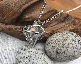 Diffuser necklace - Giant diamond