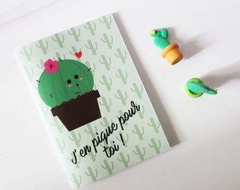 "Cactus notebook ""I in sting you!"""