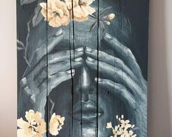 "Painting on wood ""Hey"""