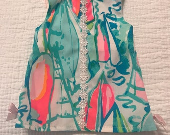 Lilly pulitzer american girl and bitty baby doll dresses w matching headband