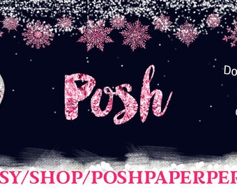 Pink Snowflake Scene, Overlay, Facebook Wall Event Cover)