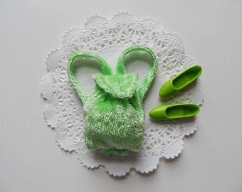 Lime Green Velvet Velour Backpack & Flats ~.~ for Barbie