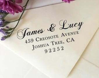 Custom Return Address Stamp, Wedding Address Stamp, Personalized, Self Inking Address Stamp, Address Stamp Names, Wooden Stamp for Invites