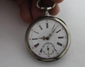 Antique swiss silver pocket wach