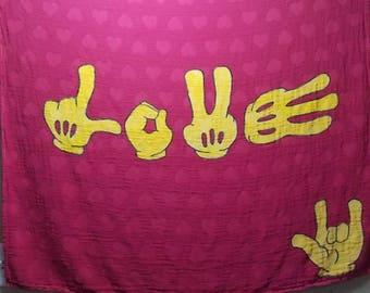 Custom Dyed Tula Blanket