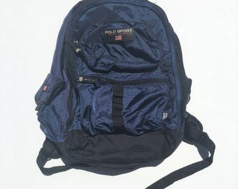 Vintage 90s Polo Sport by Ralph Lauren Navy backpack