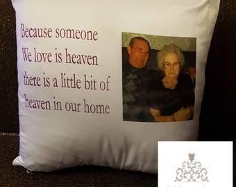 Memory pillows, remembrance,  home decor, cushions, unique gift