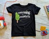 Popsicle Shirt, Kids Summer Shirt, Hipster Toddler Shirt, Positive Kids Shirt, Gender Neutral Shirt, Unisex Toddler Tee, Trendy Kids Shirt