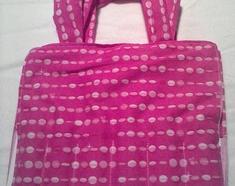 Lite pink coloring tote