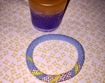 accent spiral beaded bracelet