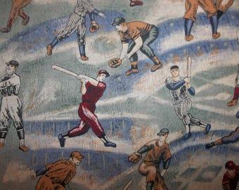 Baseball Players 100% Cotton Fabric #352