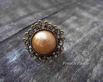 """Old gold"" bronze Adjustable ring"
