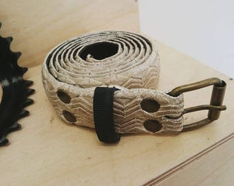White belt made from and old bike tire - 3cm wide