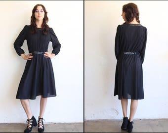 1960's Black Sequin Cocotail Dress