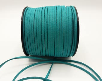 3 m - 3 mm * 1.4 mm - turquoise blue suede A183