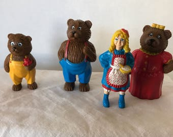 Vintage HG Toys Goldilocks And The Three Bears Storybook Characters