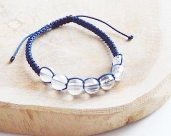 "Shamballa bracelet ""Bead faceted Crystal"""