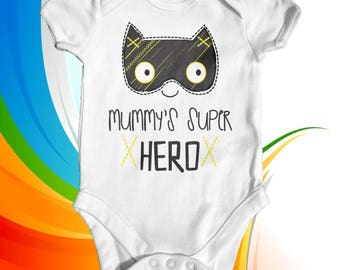 Mummy's Super Hero Baby Bodysuit | Cute Baby Clothes | Baby Shower Gift | Funny Baby Bodysuit | Hero Baby Bodysuit | Newborn Baby