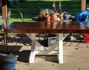 Patio Outdoor Dining Room Kitchen Farmhouse Table