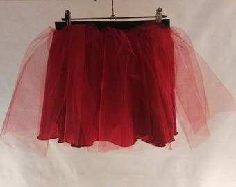 Red tulle skirt, tulle skirt for women, tulle skirt for adult, tulle petticoat, tutu tulle skirt, knee length skirt