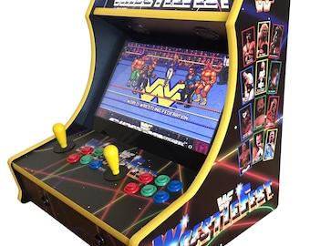 Custom WWF WrestleFest Bartop Arcade! 705 Games!