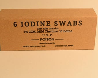 WW2 Repro Iodine Swabs Box