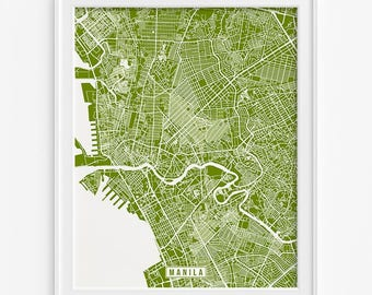 Manila Print, Philippines Poster, Manila Poster, Manila Map, Philippines Print, Street Map, Philippines Map, Valentines Day Gift