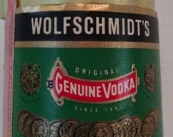 1957 Glass Decanter / Bottle, Vintage - Wolfschmidt's Genuine Vodka