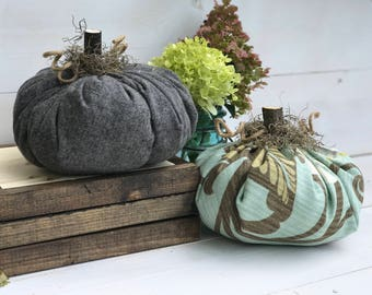 Fabric Pumpkin, Farmhouse Style Pumpkin, Thanksgiving Pumpkin, Pumpkin Patch, Fall Decor, Fall, Pumpkins, Farmhouse Decor, Farmhouse Fall