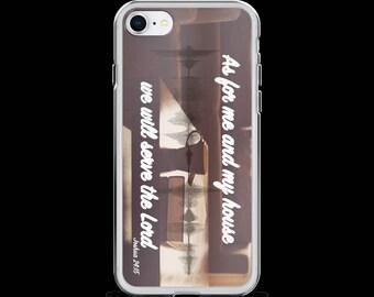 iPhone Case (Joshua 24:15) iPhone X, iPhone 8, iPhone 8 Plus, iPhone 7, iPhone 7 Plus, iPhone 6s, iPhone 6s Plus, iPhone SE