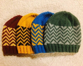 Hogwarts Houses Inspired Knit Hats