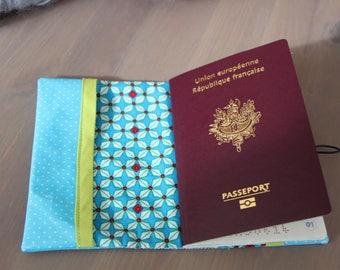 Turquoise blue passport peas