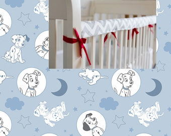 Disney Reversible Rail Cover 101 Dogs Crib Bedding 100% Cotton 101 Dalmatians Teething Rail Guard Cover 101 Dalmatians Boy Girl Nursery
