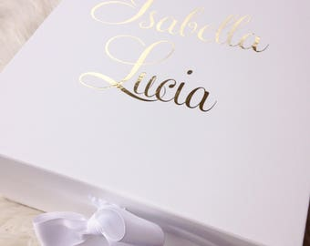 Personalised Gift Box, Personalised Keepsake Box