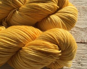 Hand Dyed Yarn - Indie Dyed Yarn - SW Sock - Sunny Day