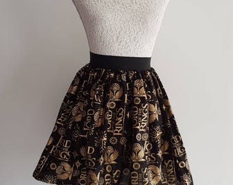 Adult Lord of the Rings Inspired  Full Skater Skirt