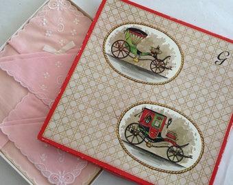 Vintage Handkerchief set - Boxed