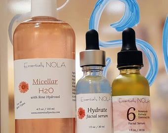 5 minute Skin Care / All Skin Types/ Natural Skin Care Bundle