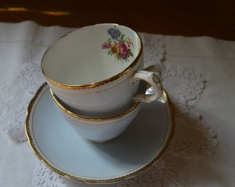 Gorgeous pale blue trio /English china/cup/saucer /tea plate/summer tea party/UK seller/ships worldwide from UK