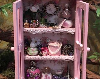 Fairy Princess miniature fairy cupboard, hutch