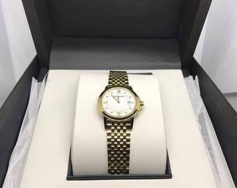 Raymond Weil ladies gold plated diamond watch RARE