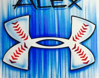 Airbrush Under Armour Baseball Shirt