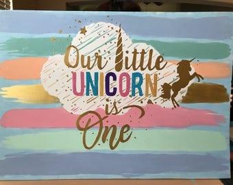 1 Unicorn Cutout/Prop/Backdrop