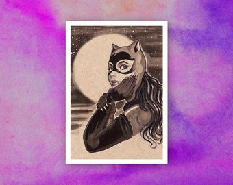 90s Catwoman Postcard