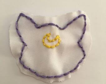 Sailor Moon Cat Hand Embroidered Patch // Anime // Luna // Artemis