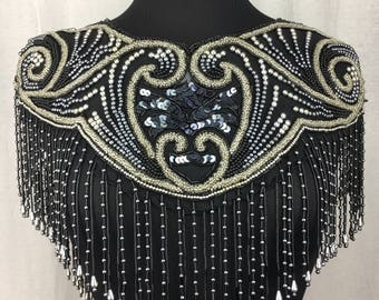 Stunning Sequin and Beaded Capelet