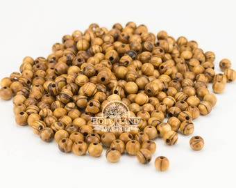 Olive Wood Round Beads 10.8 mm 280 PCS Hand Made Holy Land Rosary Beads Bracelet Beads Jewelry Beads Made in Bethlehem Olive Wood Beads