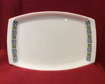 """Pyrex JAJ Checkers Platter Serving Tray 9 3/4"""" x 14 5/8"""""""